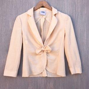 Moschino vintage peach pink wool linen bow blazer